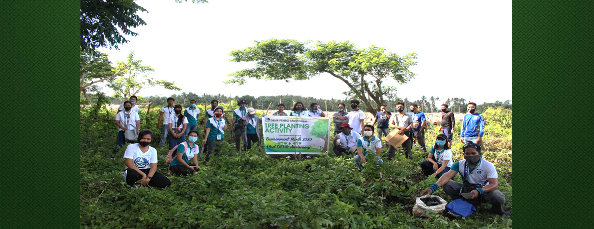 PENRO-MARINDUQUE TREE PLANTING ACTIVITY IN CELEBRATION OF THE 33rd DENR ANNIVERSARY AND PHILIPPINE ENVIRONMENT MONTH